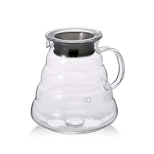 800ml Clear Glass Range Coffee Server,Standard Glass Coffee Carafe, Coffee Pot
