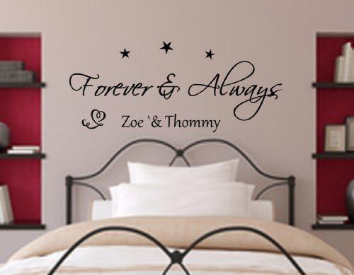 Wandtattoo Schlafzimmer Forever & Always- Für immer und Ewig ...