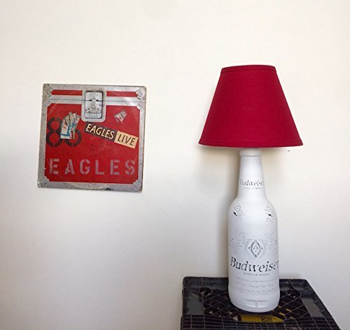 Table Lamp, Rustic Home Decor, White Glass Table Lamp, Budweiser Lamp, Bottle Lamp, country decor, Bar lamp, Gift idea, Desk Lamp,