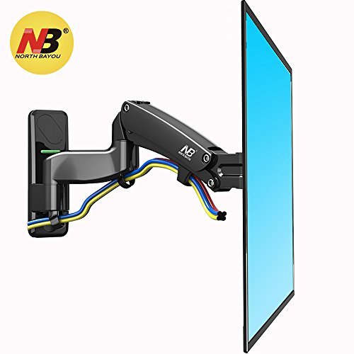 North Bayou TV Wall Mount Bracket Full Motion Articulating Swivel for 50 to 60 Inch TV with Gas Spring F500-B