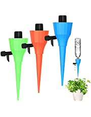 Emoly Upgraded 12 Pack Self Plant Watering Spikes with Adjustable Water Flow, Plant Waterer for Indoor Outdoor, Automatic Watering Spikes for Potted Plants