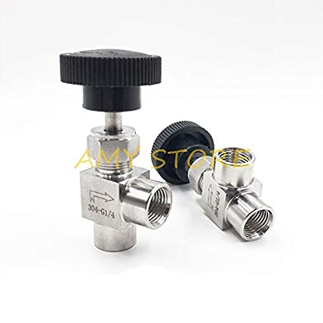 Specification : 1//2 NO-LOGO SUOFEILAIMU-Valve 1//4 1//2 inch BSP Equal Female Thread 304 Stainless Steel Flow Control Shut Off Needle Valve
