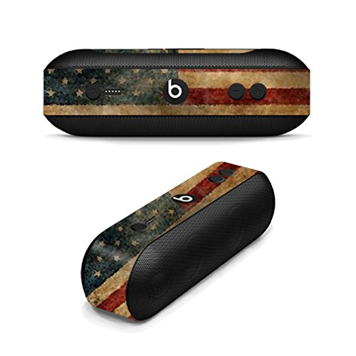 MightySkins Protective Vinyl Skin Decal for Beats by Dr. Dre Beats Pill Plus wrap Cover Sticker Skins Vintage Flag