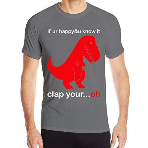 Print T-shirt Ovation (AeosJoy Men's T Shirt Ovation Tee, Men Short-Sleeved Quick-Drying Clothes Deep Heather L)