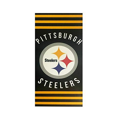 The Northwest Company NFL Pittsburgh Steelers Striped Beach Towel, 30 x 60-inchesStriped Beach Towel, 30 x 60-inches, Black, 30 x 60-inches