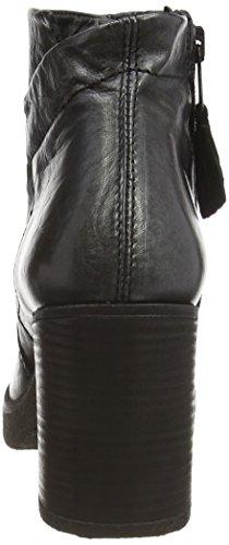 Mjus 808201-0101 - botas de caño bajo de cuero mujer negro - negro