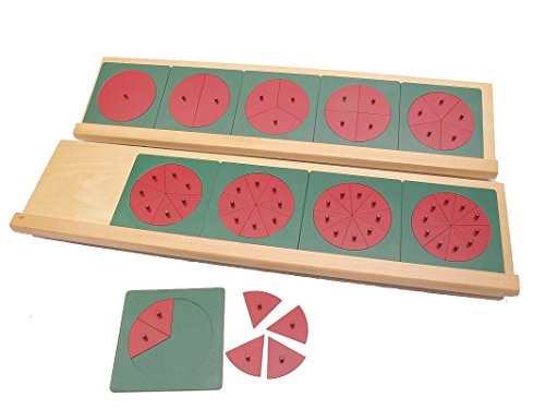 Montessori Metal Fraction Circles with Stands by PinkMontessori by pinkmontessori (Image #2)