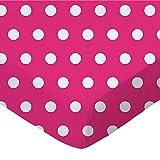 SheetWorld Fitted Basket Sheet - Polka Dots Hot