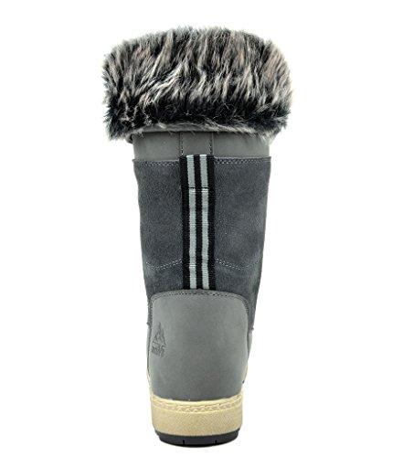 Boots Womens Faux Snow High Grey Fur Winter suede arctiv8 Knee 0wTdqTt
