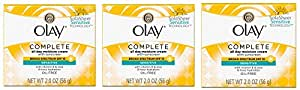 Olay Complete All Day Moisture Face Cream with Sunscreen, Sensitive Skin, 2.0 fl. oz. (Pack of 3)