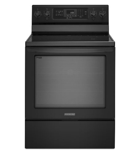 Kitchenaid KERS303BBL: KitchenAid ® 30-Inch 5-Element Electric Freestanding Range, Architect ® Series II - Black