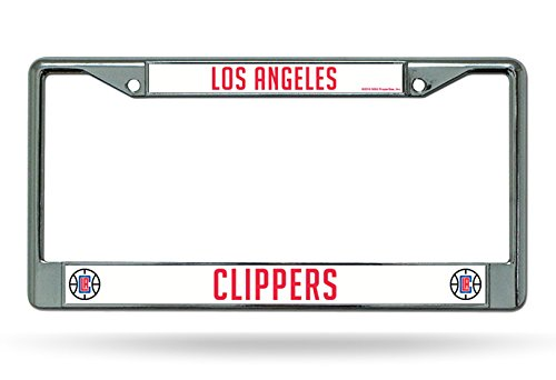 Los Angeles Clippers New Design Chrome Frame Metal License Plate Tag Cover ()