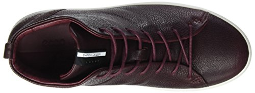 Marrone Soft a Bordeaux ECCO 8 Donna Ladies Sneaker Collo Alto 81UB1