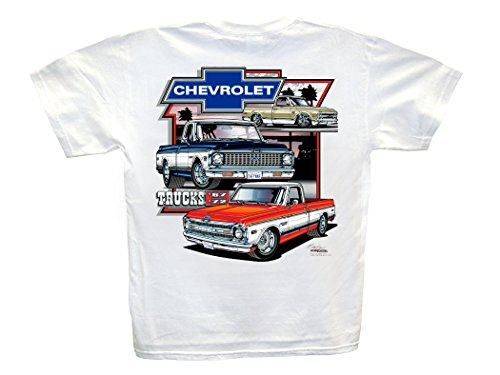 Chevrolet Trucks 1967-1972 White T-Shirt: Large - 1968 1969 1970 1971 Cheyenne...