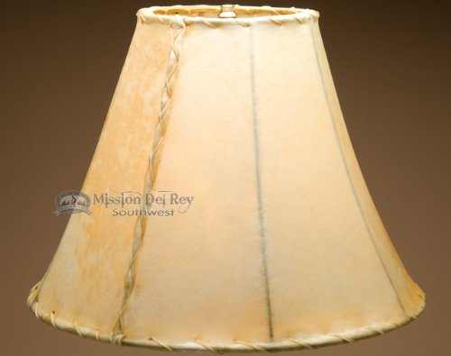 Rustic Southwestern Rawhide Lamp Shades (18'' bell) by Mission Del Rey