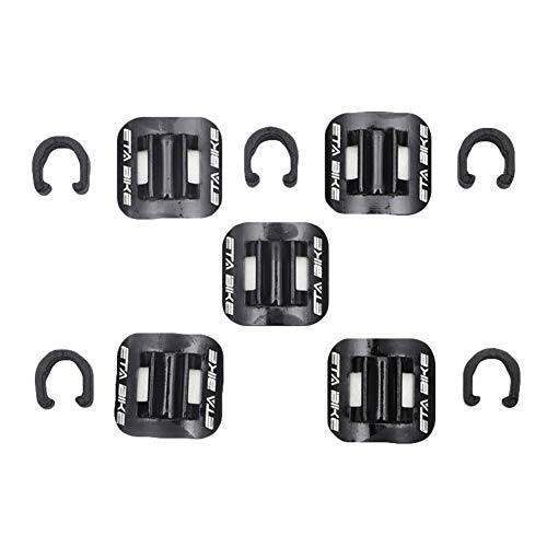 Zavarea 5pcs/Set Bicycle Cycle MTB Cable Tube Guid Aluminum Alloy Mountain Bike Brake Cable Oil Tube Guide Shifter Adapter Bicycle Frame C Buckle ()