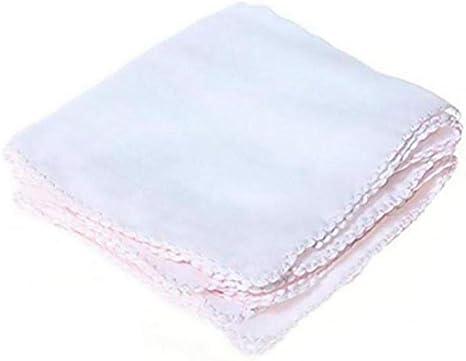 10 cuadrados piezas del blanco del bebé Pañuelos pequeña toalla ...