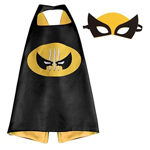 Marvel Heroes Adult Size - Wolverine Logo Cape and Mask In Gift Box from (Adult And Teen Wolverine Xmen Costumes)