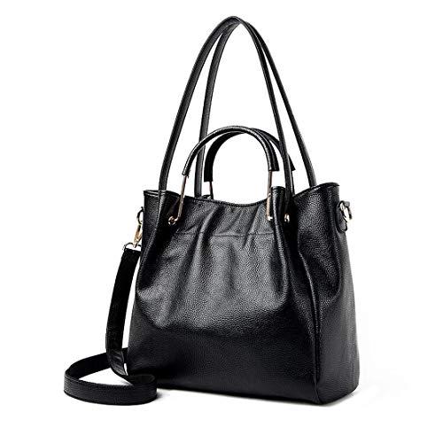 Handbag Fashion Capacity Totes PU Shoulder Bag Leather Hobo Large Women Artwell Black Satchel Bag Cx68gg
