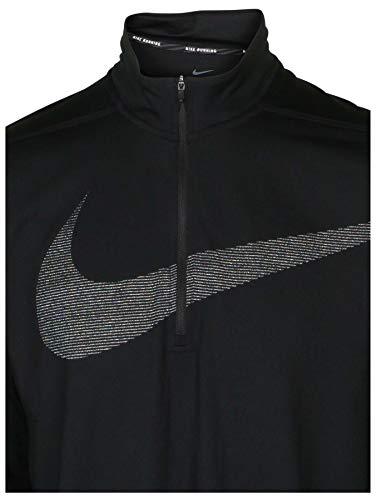 Nike Men's Dri-Fit Element 1/2 Zip Swoosh Running Top-Black-Medium by Nike (Image #2)