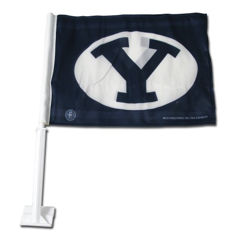 NCAA BYU Cougars Car Flag (Byu Cougars Car)