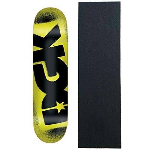 "DGK Skateboard Deck Florescent Yellow 8.25"" with Grip"