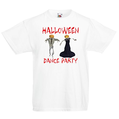 T Shirts for Kids Cool Outfits Halloween Dance Party Events Costume Ideas (14-15 Years White Multi Color)