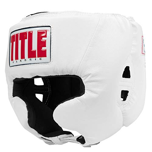 (Title Boxing Classic USA Boxing Competition Headgear, White, Medium)