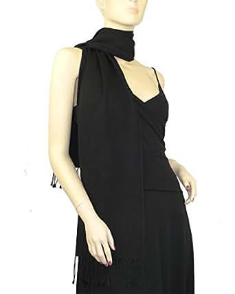Pashmina / Silk Scarf Black