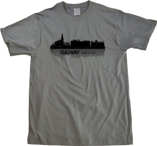 Galway, Ireland City Skyline Unisex T-shirt Grey Irish Connacht Pride Tee