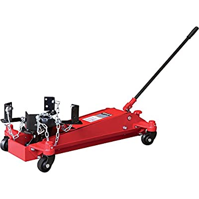 Strongway Hydraulic Low Profile Transmission Jack - 1-Ton Capacity