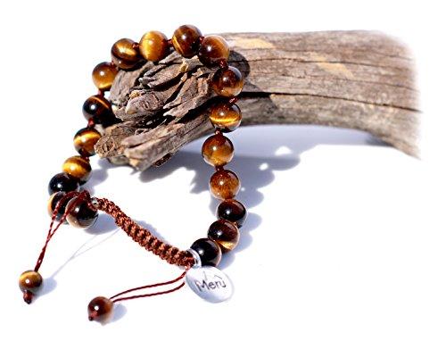 Premium Mala Beads Bracelet for Men - 8mm Mala Bead Bracelet Tigers Eye Men Ð Tiger's Eye Yellow Mala Beads Bracelet - Tigers Eye Bracelet Men - Mala Bracelet for Men