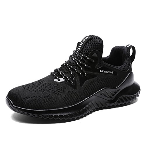 Walking Casual UBFEN Running Trainers Athletic Sports Men's Fitness Sneakers Shoes Gym Fashion Lightweight A Breathable Black wxpUw