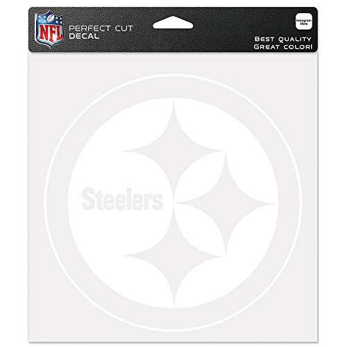 (Pittsburgh Steelers NFL Vinyl Die Cut Window Decal Auto Car Logo White 8x8 Sticker Football Licensed Team Logo)
