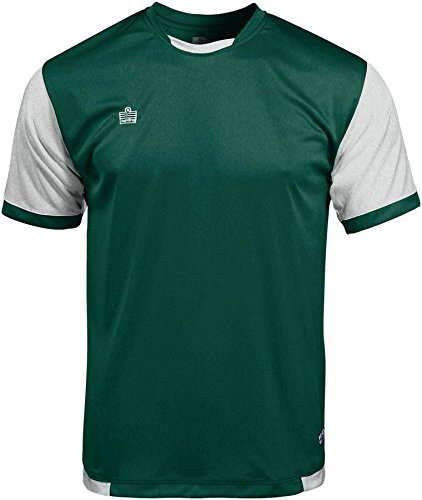 Admiral Trafford Ready-to-Play Soccer Jersey, Forest/White, Adult ()