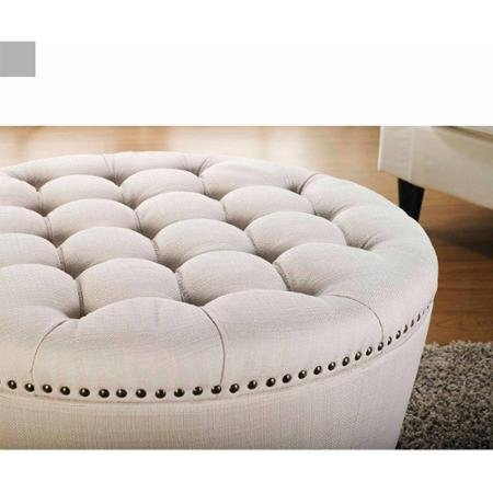 Stylish And Functional Better Homes And Gardens Round Tufted Storage Ottoman With Nailheadsa