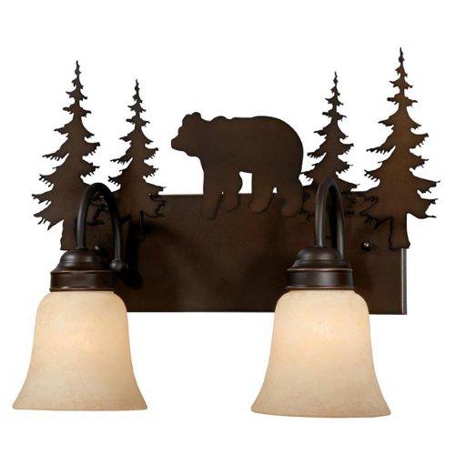 - Black Forest Decor Montana Cabin Vanity - 2 Light - Rustic Fixtures