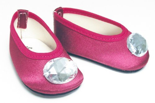 Pink Doll Shoes - Sophia's Doll Shoes in Deep Pink fit for 18