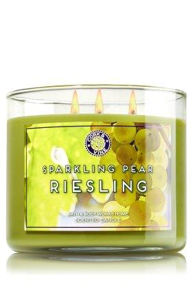 Bath & Body Works 3 Wick Candle 14.5 Oz Sparkling Pear Ri...