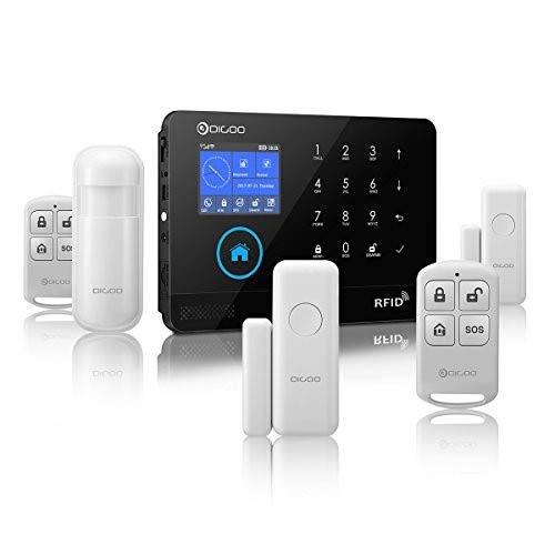 Digoo DG-HOSA 433MHz Wireless 3G&GSM&WIFI Home and Business Security Alarm System, DIY Smart Alarm Systems Kits Infrared Motion Sensor Door Magnetism Alert with APP Control, Update Version (Digoo Wireless Home And Business Security Alarm)