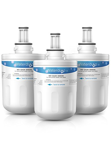 3 Pack Waterdrop DA29-00003G Replacement for Samsung DA29-00003G, DA29-00003B, DA29-00003A, HAFCU1 Refrigerator Water Filter