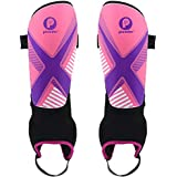 Picador Kids Shin Guards for Soccer with Ankle Sleeves (Pink, S)