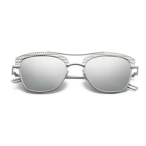 UVB Color De Personalidad 5 Reflexivo Gafas 1 Moda Cara Sol Hembra xin WX UVA Gafas Redonda Anti 6xHOtqpZ