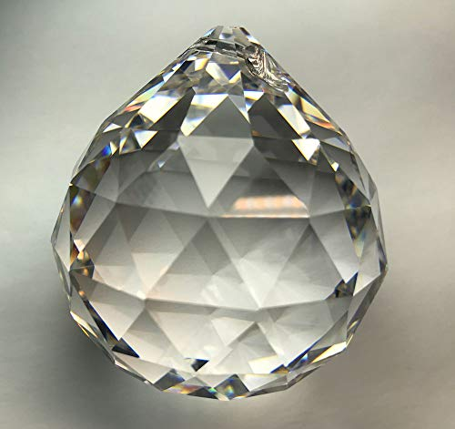 Wholesale Crystal Ball - Asfour Crystal Set of 90-30 mm Clear 30% Lead 701 Wholesale Crystal Balls Pendant - 1 Hole