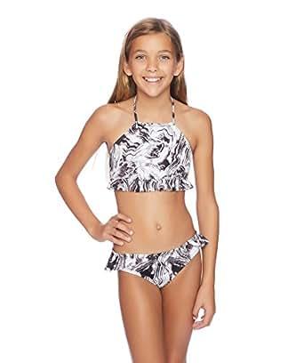 Amazon.com: Reef Big Girls' Mod Squad High Neck Bikini Top