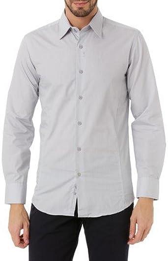 J.BRADFORD Camisa Tejido Gris Claro Eden - Color : Gris, Talla Camisas - T2: Amazon.es: Ropa y accesorios