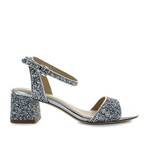 Ash Women's Shoes Remix Glitter Silver Sandal Spring Summer 2018 thI44jj