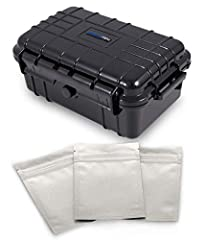 """SAFECASE 8"""" Smell Proof and Odor Resistant Travel Case with Customizable Foam - INCLUDES THREE AIRTIGHT BAGGIES        Rugged, Air-Tight, Water-Proof, Odor ResistantThis hard shell case's exterior is made of High-Density polymer plasti..."""