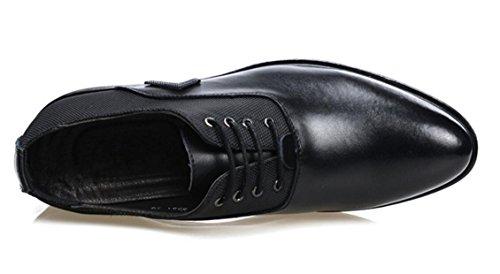 Zapatos Mlsopx Transpirables Black Negocios De 43 Vestir Hombre Para Cuero drxOrwqU
