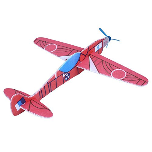 Forfar Mini DIY Flying Airplanes Glider Model Handmade Educational Toys Set for Kids Toddlers Gifts Decor 12-Pack Fan Shop